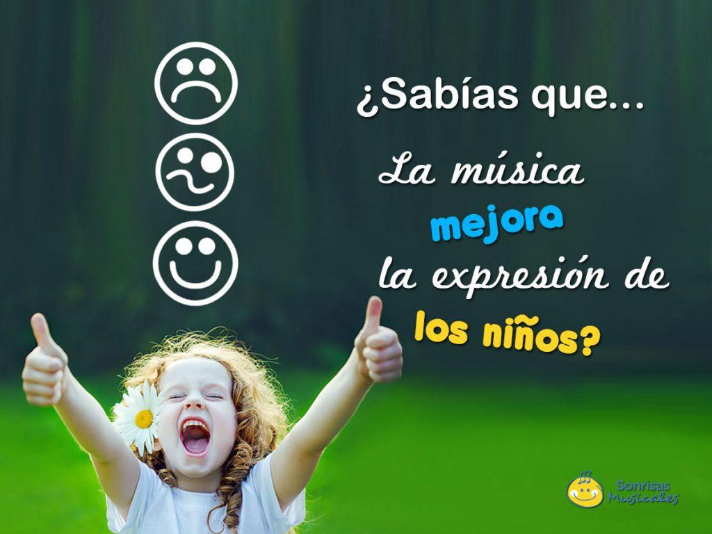 La música mejora la forma de expresarse en los niños